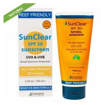 Grahams Natural Sunscreen - Grahams Natural Alternatives SunClear Reef Friendly Sunscreen,(SPF 30) 5.29 oz