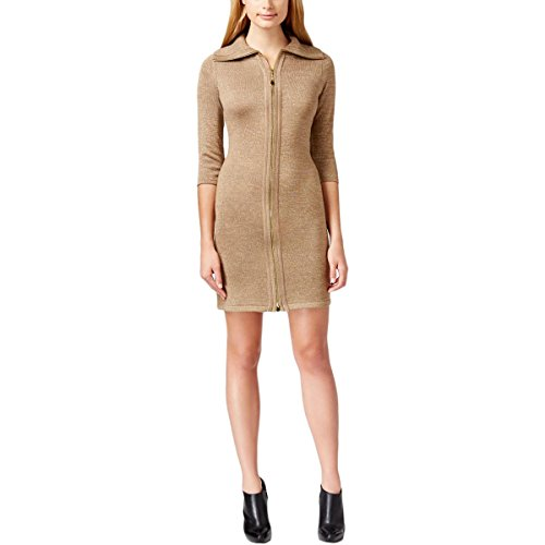 Zip Front Sheath Dress - 3
