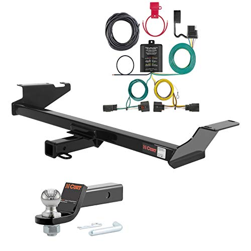 - Curt Class 3 Trailer Hitch with Custom Wiring Harness & Loaded Ball Mount with 2
