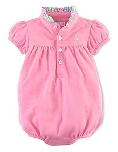 Ralph Lauren Baby Girls Bubble Romper (24 Months, Garden Rose - Months Ralph 24 Lauren