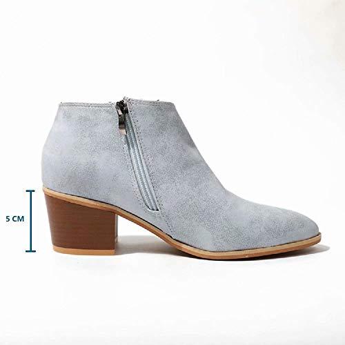 1a9a09ebc06 43 Taille Bottes Compensé Boots Bleu Chelsea 5cm Basse Talon Grande Gris  Chic Femme 35 Cheville Bottine Beige Chaussures Noir Plates ...