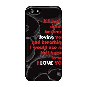 Cute Tpu NadaAlarjane Love Case Cover For Iphone 5/5s