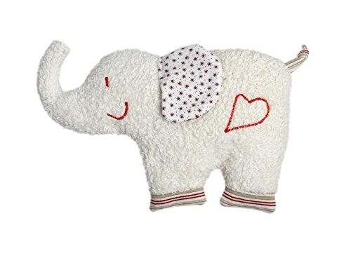 Efie Kirschkern-Wä rmekissen Elefant, aus kontrolliert biologischem Anbau, 100% Made in Germany