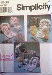 Simplicity 8400 Sewing Pattern Andrea Schewe Baby Accessory Package