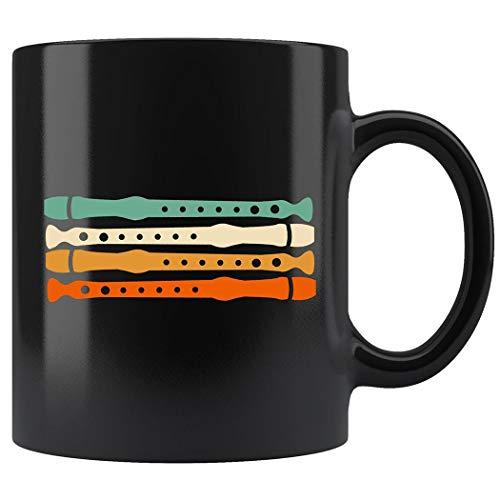 (Vintage Retro 70s Flute GifMug For Flute Coffee Mug 11oz Gift Black Tea Cups)