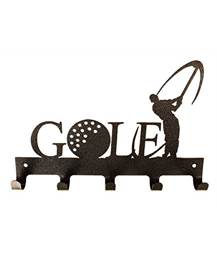 10 inch 5 Hook Golf Charcoal Medal Holder by Show Ur Passion