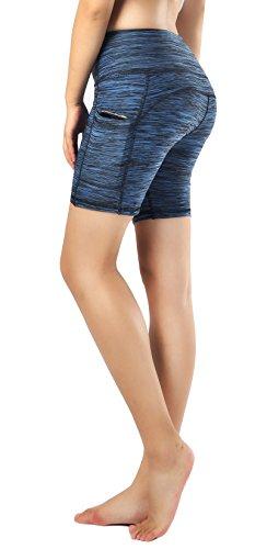 Sugar Pocket Women Yoga Pants Workout Leggings Half Tights with Side Pockets (Simple Womens Sugar)