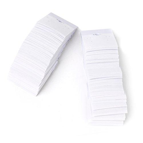 - 2 x 2 Inch White-Flocked Velvet Earring Display Hang Cards Hanger