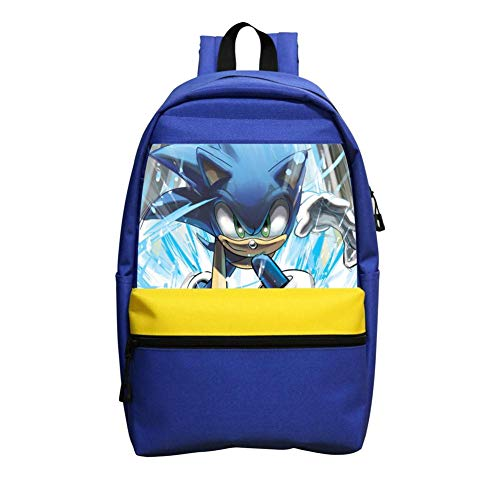 Kids School Backpack Cool So-nic Hedgehog School Bag Lightweight Bookbag Durable Daypack