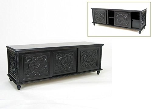Wayborn Home Furnishing Inc Charleston Mercer TV Console, Dark Brown