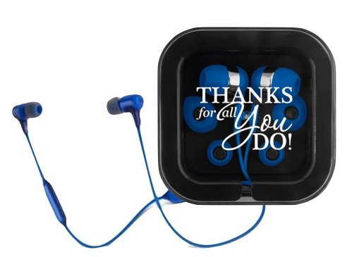 Thank You Ear Bud & Microphone Kit/Corporate Tech Gifts/Smartphone Accessories/Tech Gifts for Clients/Thank You Gifts for iPhones/