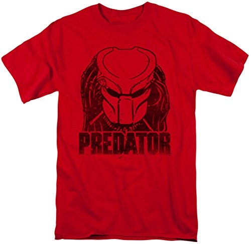 Licensed Predator Movie Logo T-Shirt for Men, Red