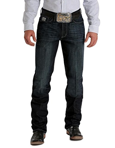 Cinch Western Denim Jeans Men Silver Perform 40 x 36 Dark MB98034007 (Mens Cinch)