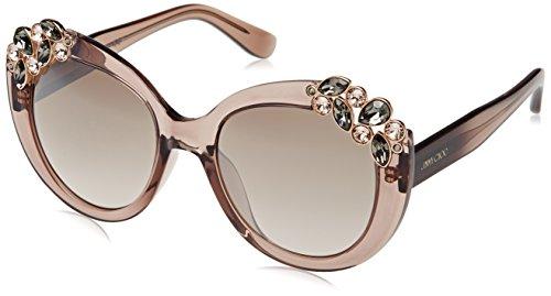 Jimmy Choo Women's Megan Sunglasses, Trans Dove Grey/Brown, One - Jimmy Choos Pink