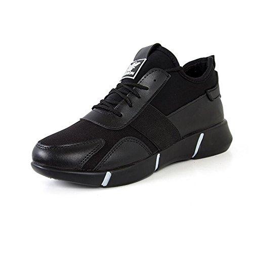 aire de zapatillas libre para cordones con de otoño de zapatillas atleta de Zapatos cuero de negro color deportivo correr casual al confort deportivos el mujer de deporte arma G Black de primavera tul del y wfwp0qa