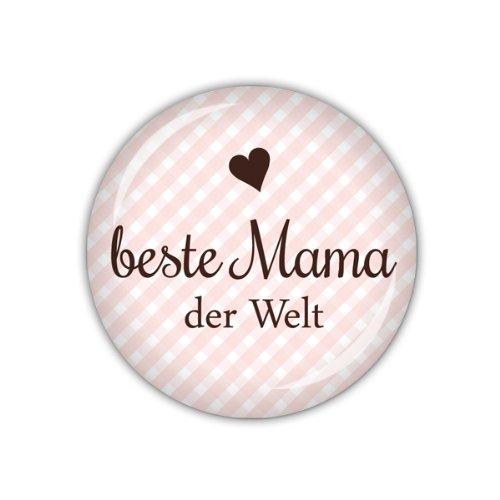 Beste Mama der Welt lijelove/® Taschenspiegel 59mm /Ø Vichy rosa Art. 04-01O7