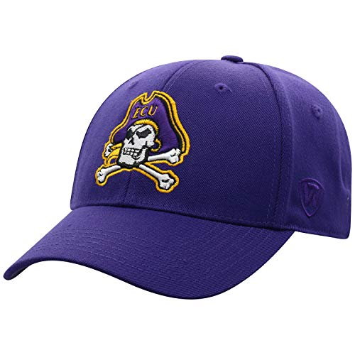 Top of the World NCAA East Carolina Pirates Memory Fit Wool Blend Hat, One Size, Purple