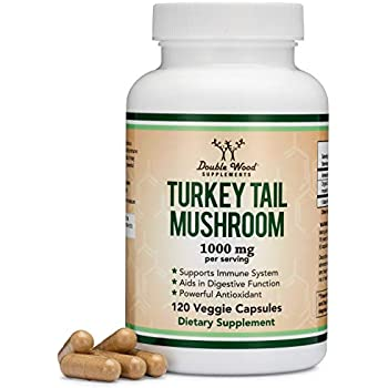 Amazon com: Turkey Tail Mushroom, 60 Capsules, 500mg Each