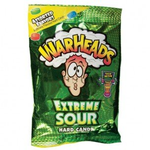 WARHEAD ASSORTED 2 OUNCES PEG 12 COUNT by WARHEAD ASSORTED 2 OUNCES PEG 12 COUNT