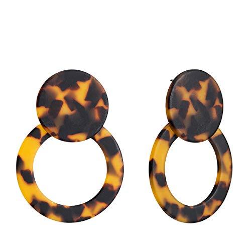 Acrylic Earrings Bohemian Statement Hoop Drop Dangle Earrings Resin Earrings for Women Fashion Jewelry ()