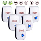 Ultrasonic Pest Repeller 6 Pack,Upgraded Electronic Pest Repellent Plug in Indoor Pest Control for Insects, Mosquito, Mouse, Cockroaches, Rats, Bug, Spider, Ant, Human and Pet Safe: more info