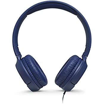 107579a70ff JBL T500 On-Ear Headphone in-Ear Headphone with One-Button Remote/Mic, Blue