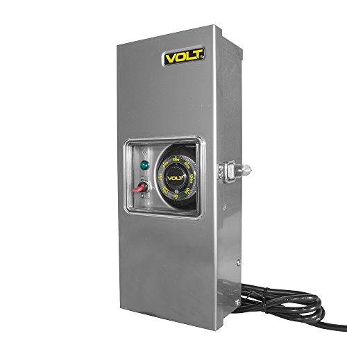 VOLT Lighting 300 Watt LED Low Voltage Transformer for Landscape Lighting (12V/15V) - Easy Install - Stainless Steel