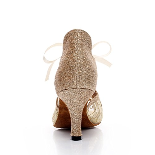 Cxs Mesdames Ouvrent Orteils De Mariage De Talons De Chaussures De Danse De Salon Pour La Tango De Salsa Et Pratique, 2,75 Talon