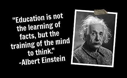 Amazon 20 X 30 Xxxl Poster Albert Einstein Quote Education Is