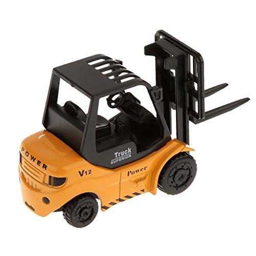 MagiDeal 1:64 Diecast Forklift Truck Forktruck Vehicle Model Toys for Kids Learning
