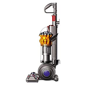 Dyson Small Ball Multi Floor Upright Vacuum, Iron/Satin Yellow (Renewed)