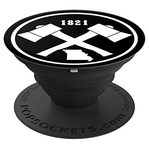Vintage Missouri Hiking Outdoors Axe Established 1821 PopSockets Grip and Stand for Phones and Tablets