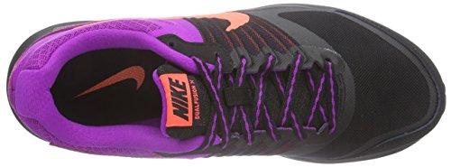 Nike Dual Fusion X - Zapatillas de running para mujer, color negro / naranja / blanco / morado