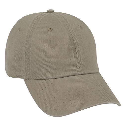 - OTTO Garment Washed Cotton Twill 6 Panel Low Profile Dad Hat - Dk. Khaki