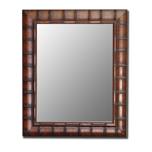 - 2nd Look Mirrors 550600 27x37 Fruitwood Bamboo Mirror