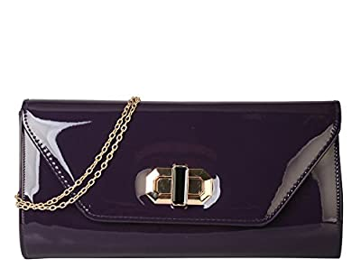 Rimen & Co. Shiny Patent PU Leather Clutch Womens Purse Handbag LP-2306 LP-2307 LP-2839 EB-022 EB-023 EB-024 EB-025