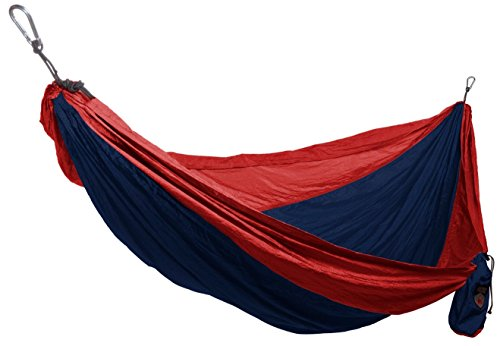 grand-trunk-double-parachute-nylon-hammock-with-carabiners-navy-red-one-size