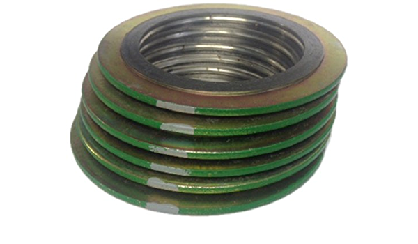 Pack of 12 Sterling Seal 9000IR2316GR2500X12 316L Stainless Steel Spiral Wound Gasket with 316SS Inner Ring and Flexible Graphite Filler of NJ for 2 Pipe Supplied by Sur-Seal Inc Green Band with Grey Stripes for 2 Pipe