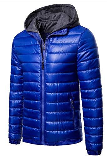 Parka Hooded Pillow Coat Men's Down Light Gocgt Down Blue Outdoor Packable Ultra Jacket Puffer 5XPfqWwH