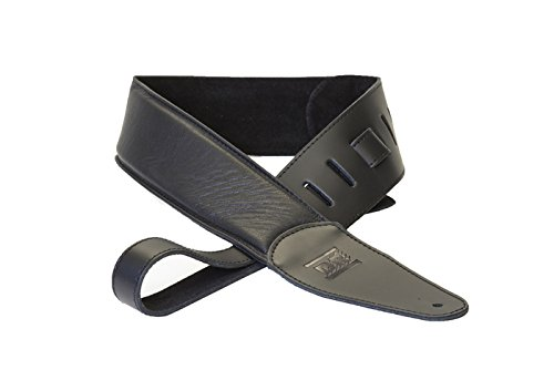 (DR Strings 500BK Butter Soft Glove Leather Guitar Strap, Black)