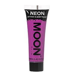 Moon Glow - 0.42oz Blacklight Neon UV Face & Body Paint - Intense Purple