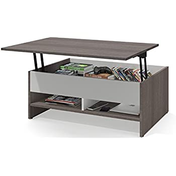 Incroyable Bestar Small Space Lift Top Coffee Table In Bark Gray And White