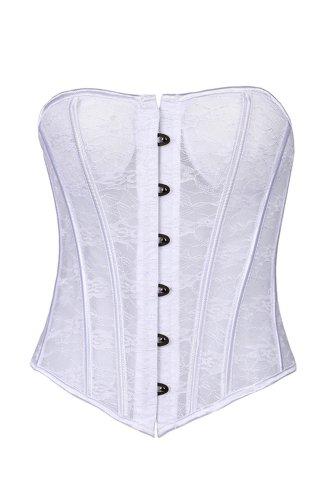 Mujeres De Malla De La Cintura Corsé De Trainer Prendas Modeladoras Blanco
