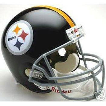 (Pittsburgh Steelers 1963-1976 Deluxe Replica Throwback Full Size Helmet)