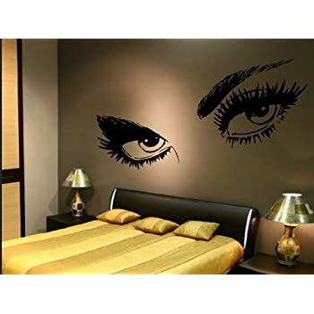 Decalgeek Beautiful Eyes Removable Wall Art Decal Sticker Decor ...