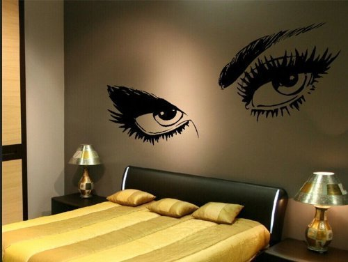 USA Large Audrey Hepburn Beautiful Eyes Removable Wall Art Decal Sticker Decor Mural DIY for Living Room Bedroom Decoration