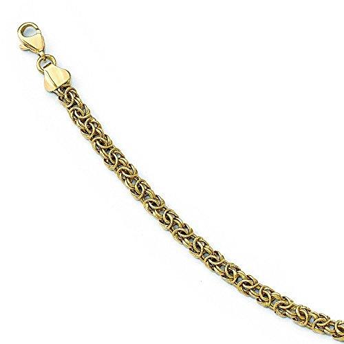 Poli 14 carats fantaisie lien-bracelets de 7,5 cm-JewelryWeb