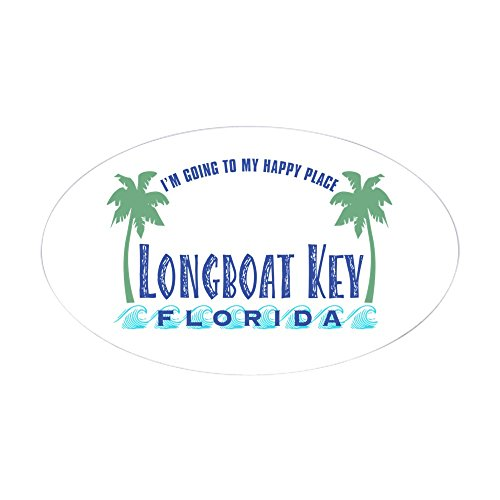 CafePress - Longboat Key Happy Place - Oval Sticker - Oval Bumper Sticker, Euro Oval Car - Circle Armand St