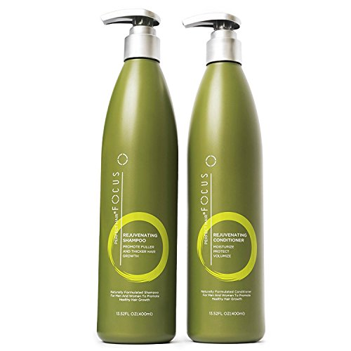Natural Shampoo and Conditioner - Paraben and Sulfate Free Infused with Jojoba, Coconut, Argan Oil and Biotin - Color Safe Formula Promotes Hair Growth - Includes Pump - 13.5 ounce (1 Pack) ()