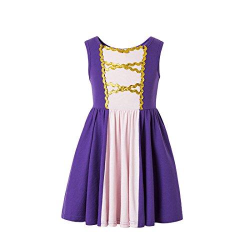 Ruikajia Rapunzel Princess Dress Moana Girls Adventure Cosplay Costume by Ruikajia (Image #6)